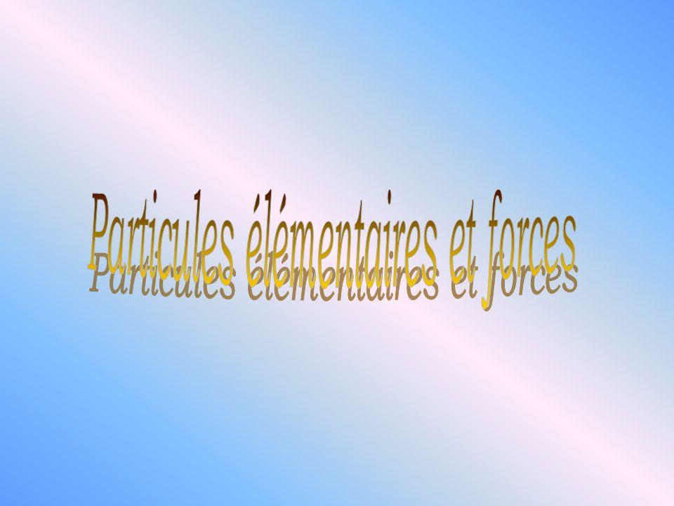 Particules élémentaires et forces