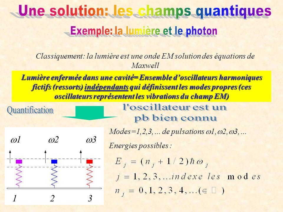 Une solution: les champs quantiques