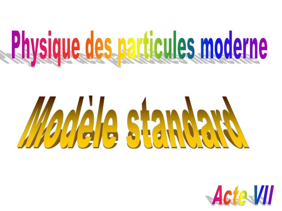 Physique des particules moderne