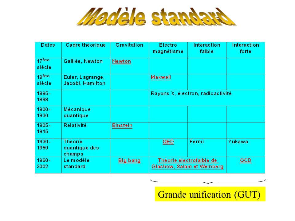 Modèle standard Grande unification (GUT)