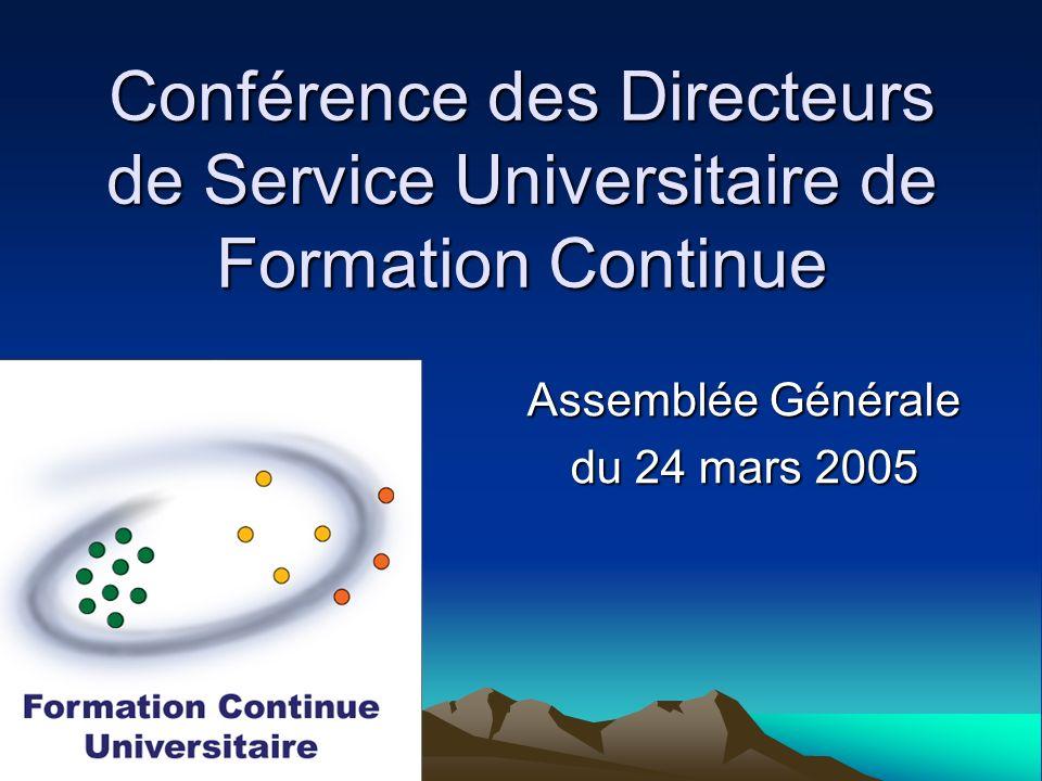Assemblée Générale du 24 mars 2005