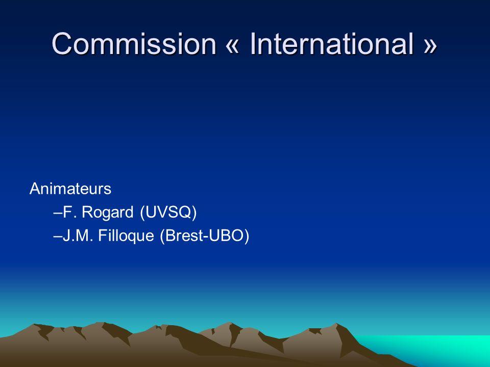 Commission « International »