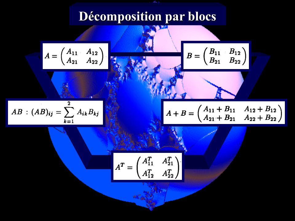 Décomposition par blocs