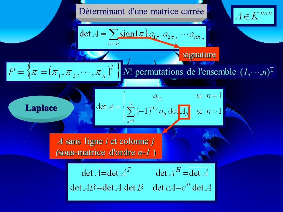 Déterminant d une matrice carrée