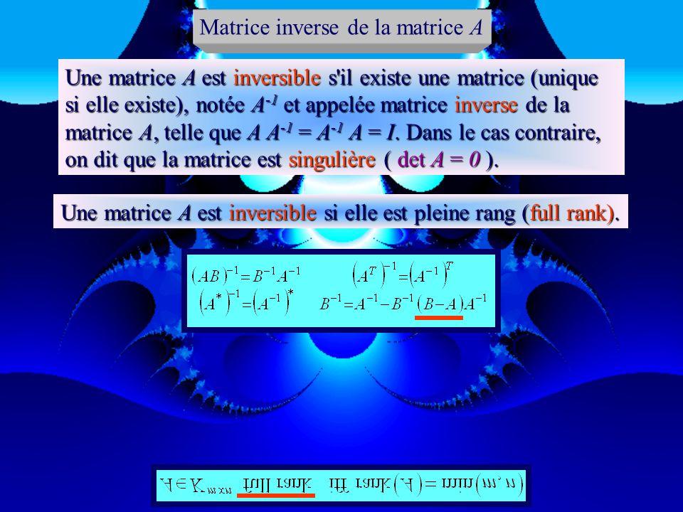 Matrice inverse de la matrice A