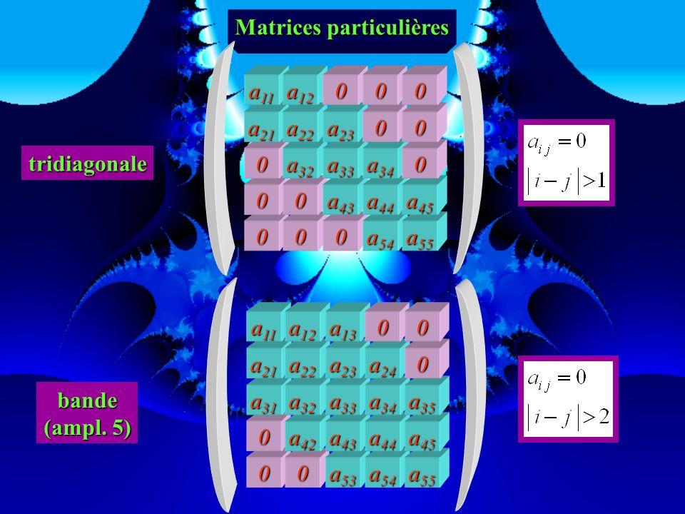 Matrices particulières