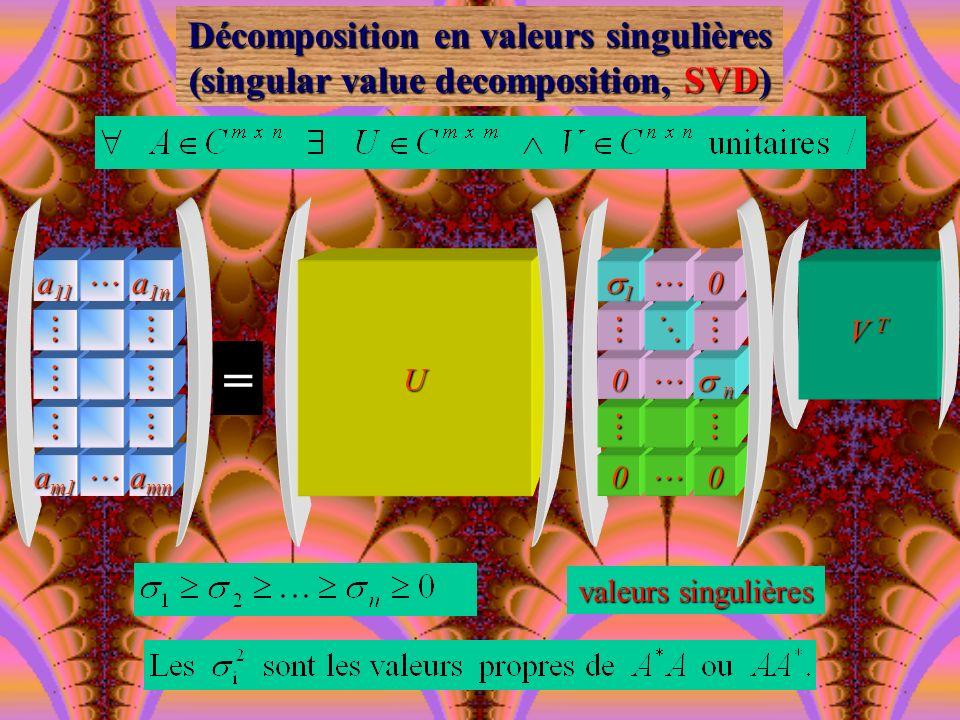= Décomposition en valeurs singulières
