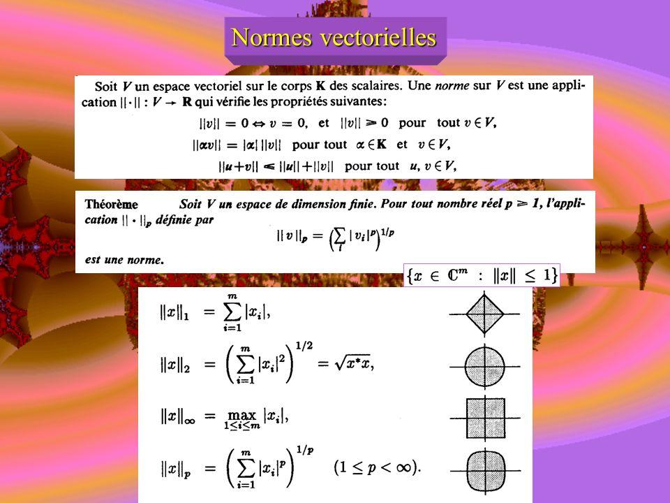 Normes vectorielles