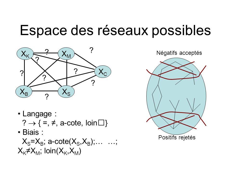 Espace des réseaux possibles
