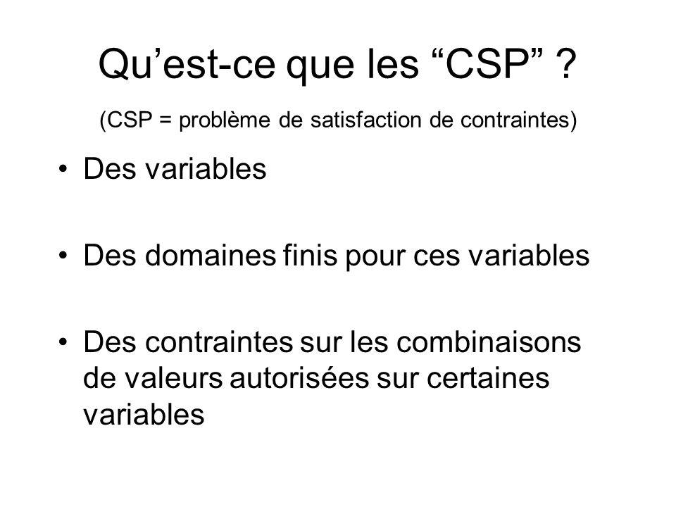 Qu'est-ce que les CSP