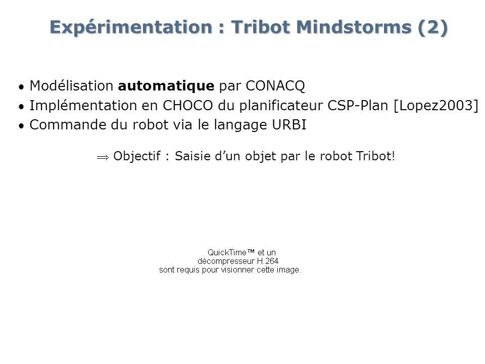 Expérimentation : Tribot Mindstorms (2)