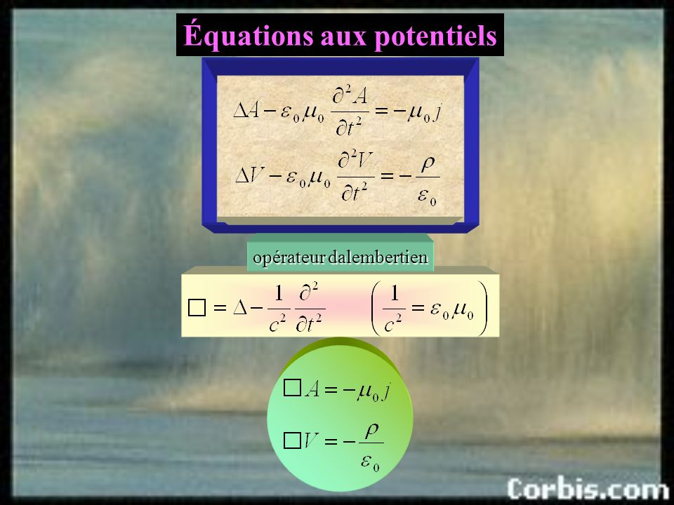 Équations aux potentiels