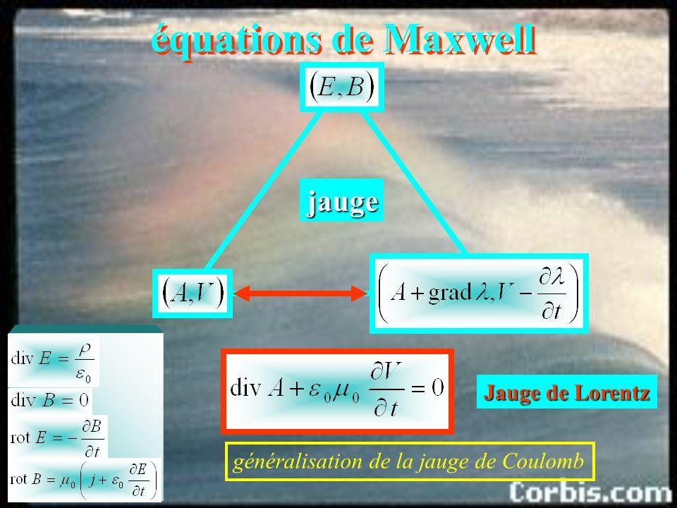 équations de Maxwell jauge Jauge de Lorentz
