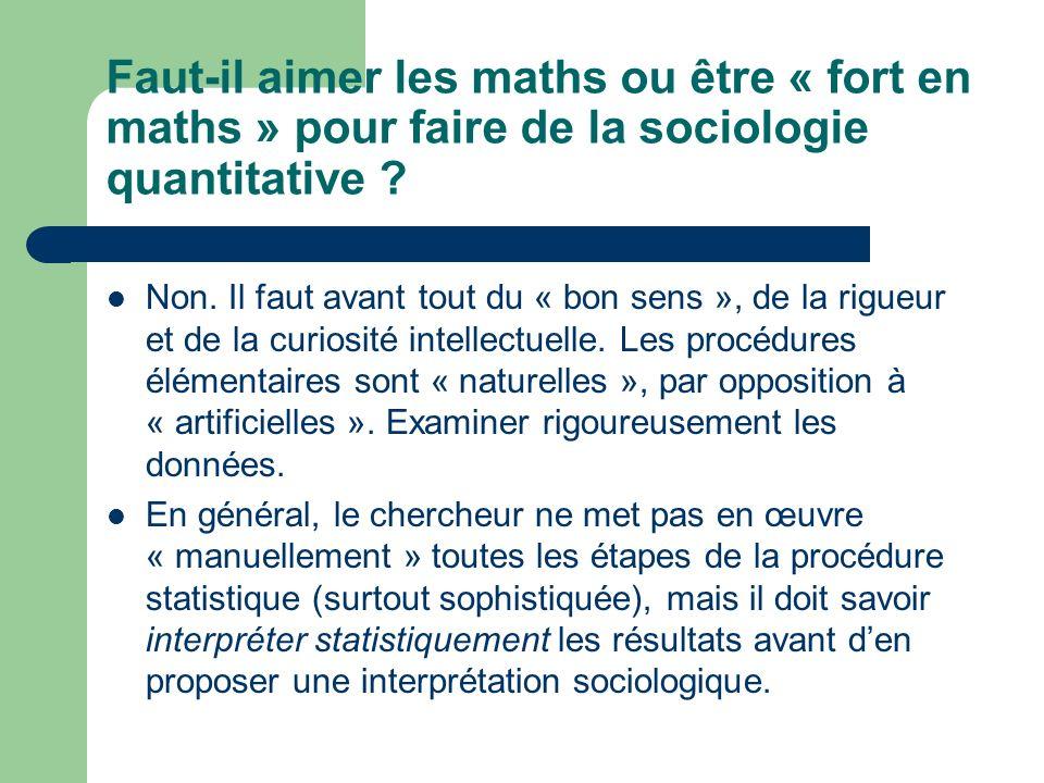 Faut-il aimer les maths ou être « fort en maths » pour faire de la sociologie quantitative