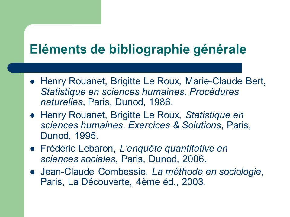 Eléments de bibliographie générale