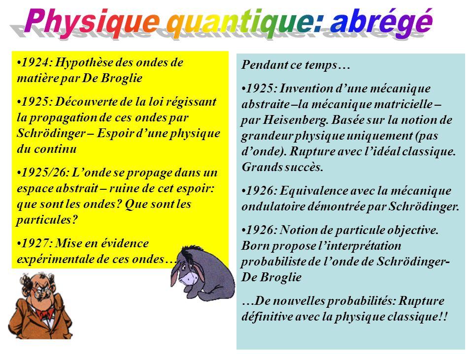 Physique quantique: abrégé