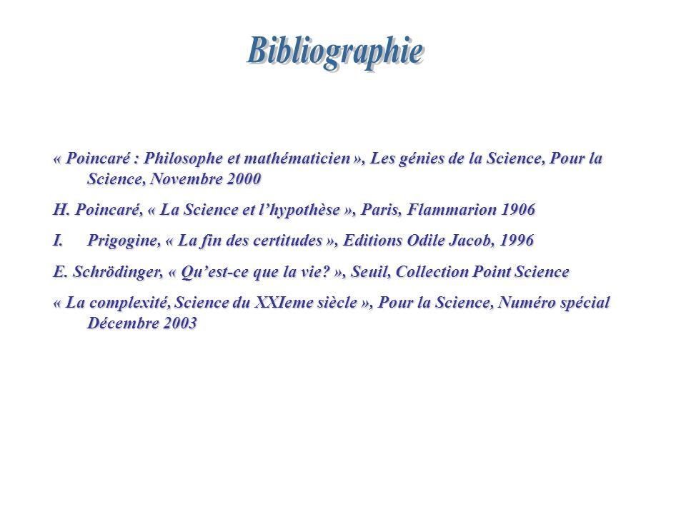 Bibliographie « Poincaré : Philosophe et mathématicien », Les génies de la Science, Pour la Science, Novembre 2000.