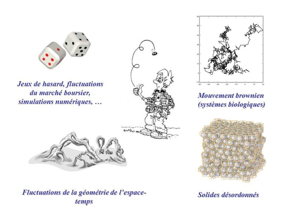 Fluctuations de la géométrie de l'espace-temps