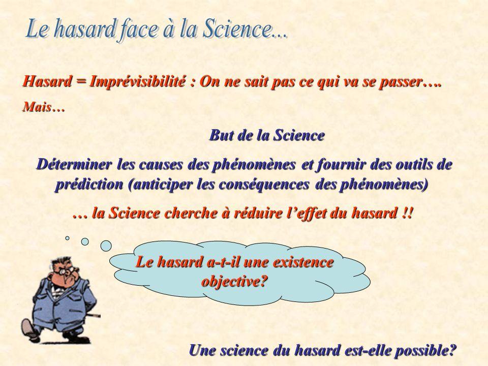 Le hasard face à la Science...
