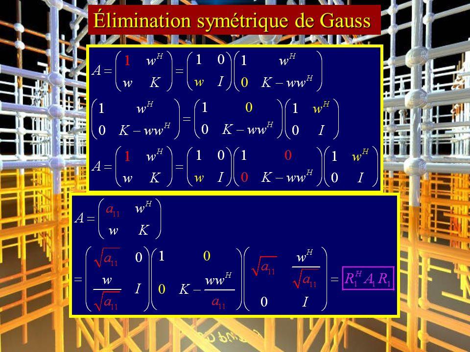 Élimination symétrique de Gauss
