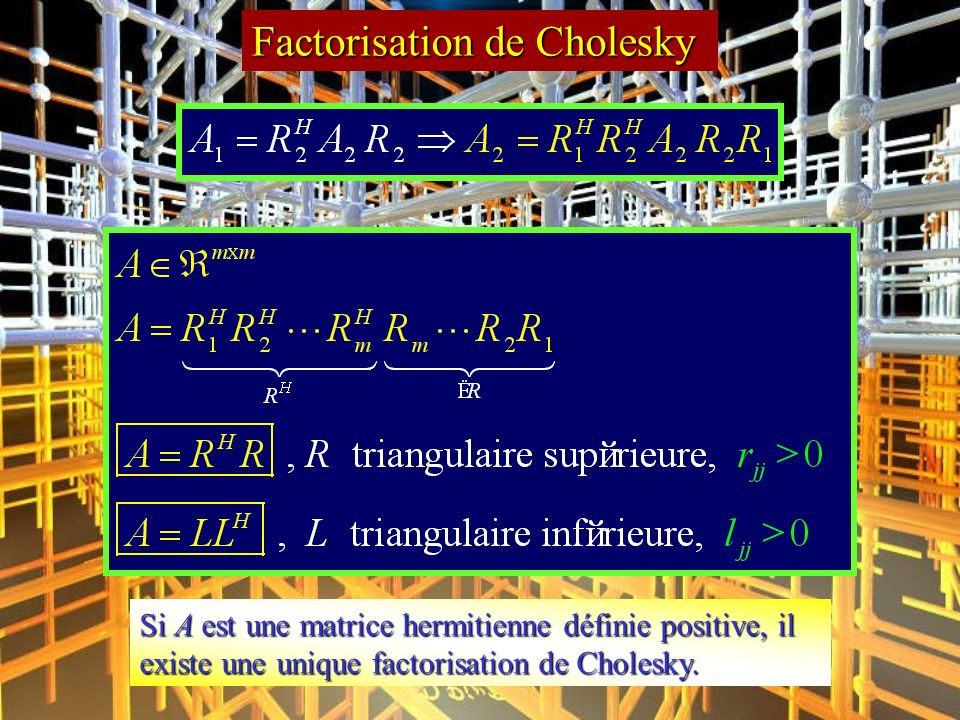 Factorisation de Cholesky