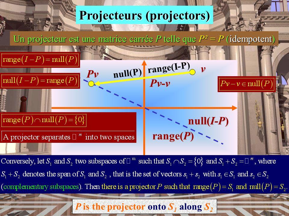 Projecteurs (projectors)