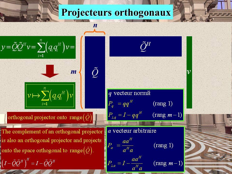 Projecteurs orthogonaux