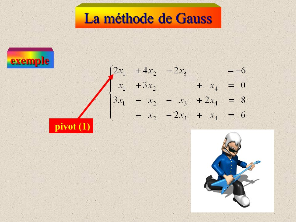 La méthode de Gauss exemple pivot (1)
