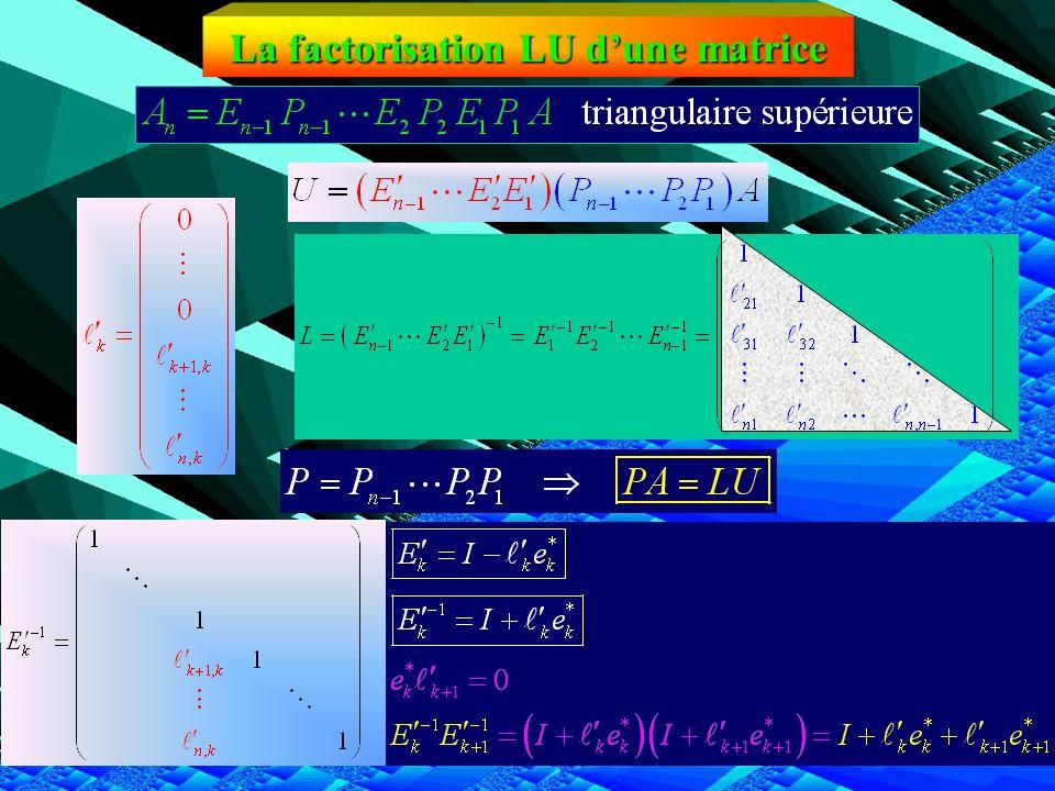 La factorisation LU d'une matrice