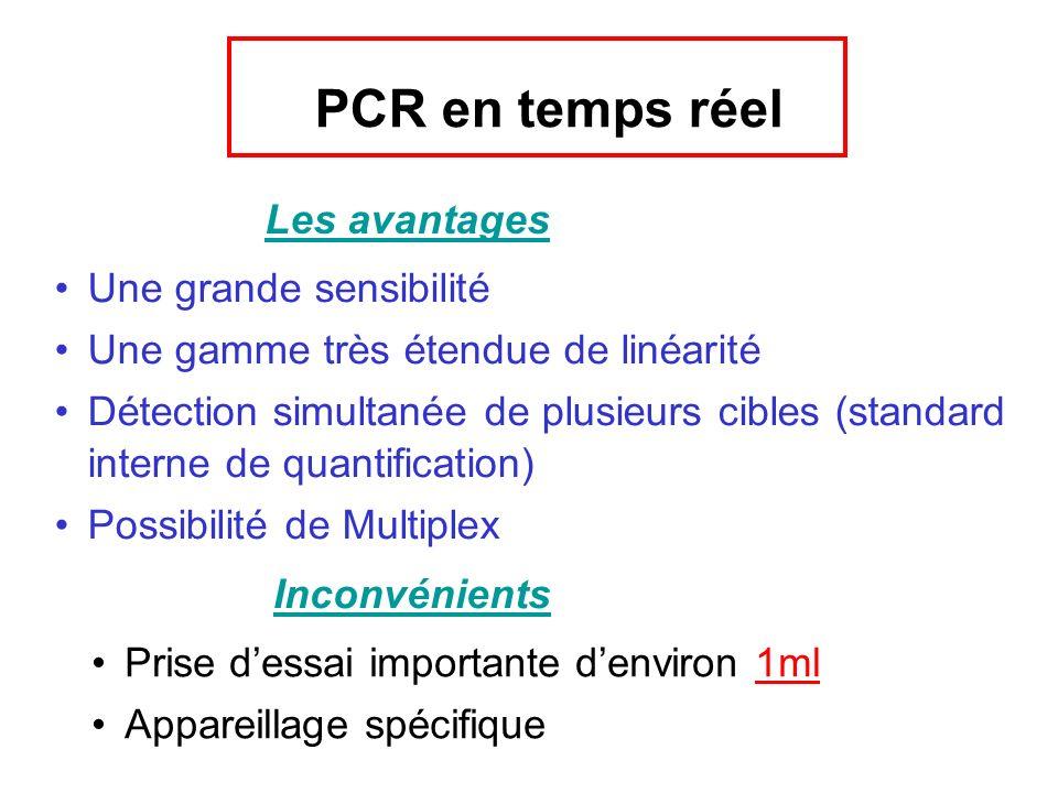 PCR en temps réel Les avantages Une grande sensibilité