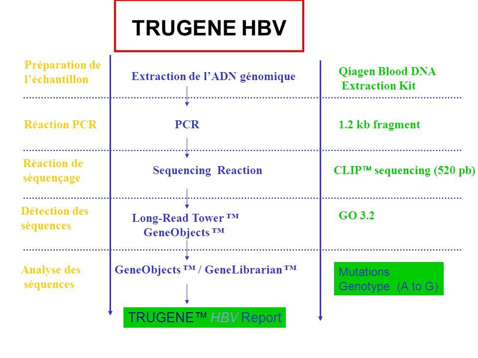 TRUGENE HBV TRUGENE™ HBV Report Préparation de l'échantillon