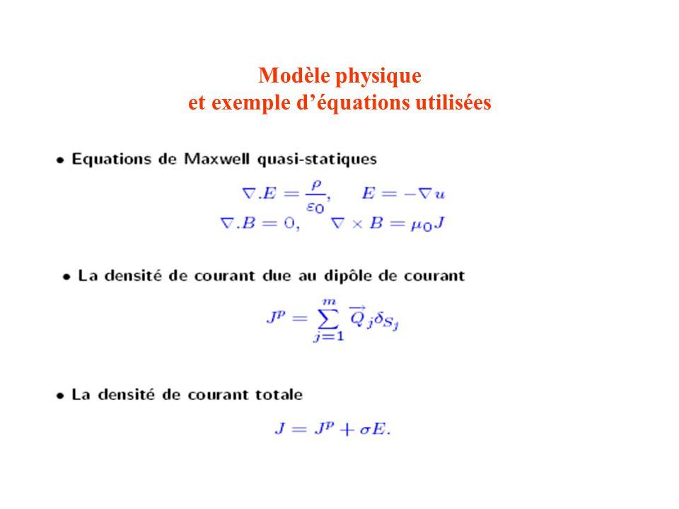 Modèle physique et exemple d'équations utilisées