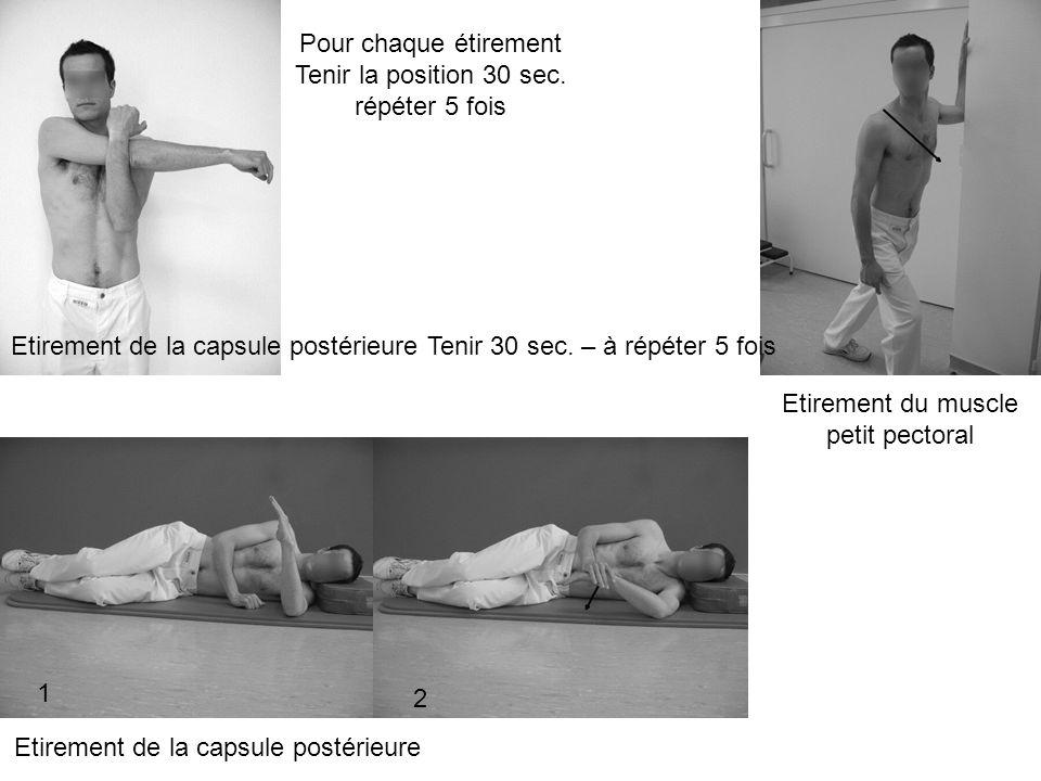 Etirement du muscle petit pectoral