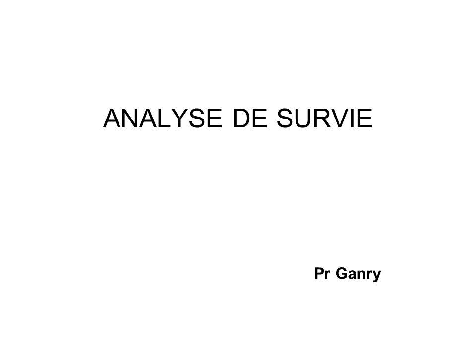 ANALYSE DE SURVIE Pr Ganry