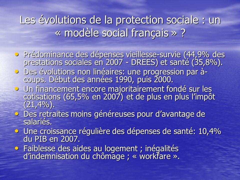 Les évolutions de la protection sociale : un « modèle social français »
