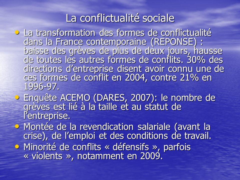 La conflictualité sociale