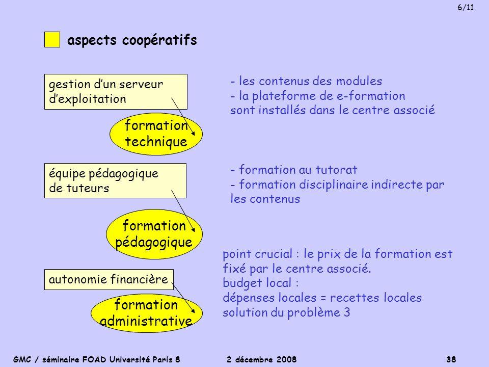 aspects coopératifs formation technique formation pédagogique