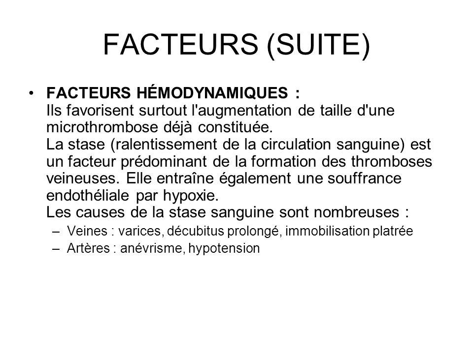 FACTEURS (SUITE)