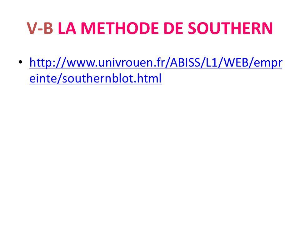 V-B LA METHODE DE SOUTHERN