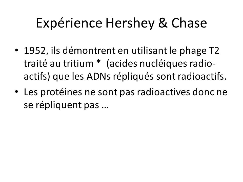 Expérience Hershey & Chase