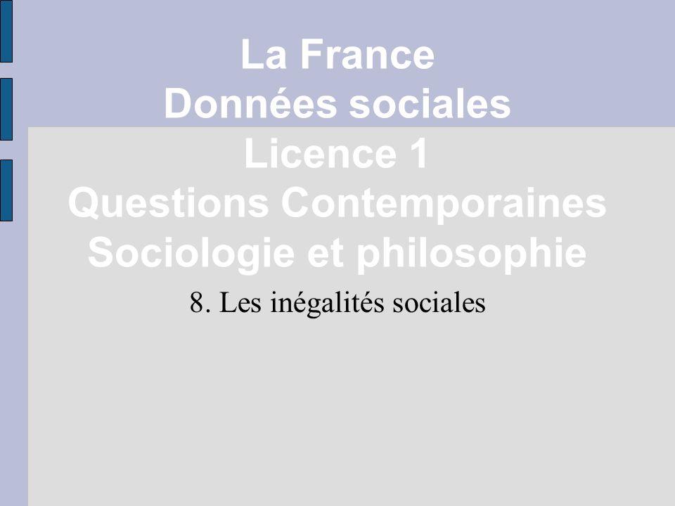 8. Les inégalités sociales
