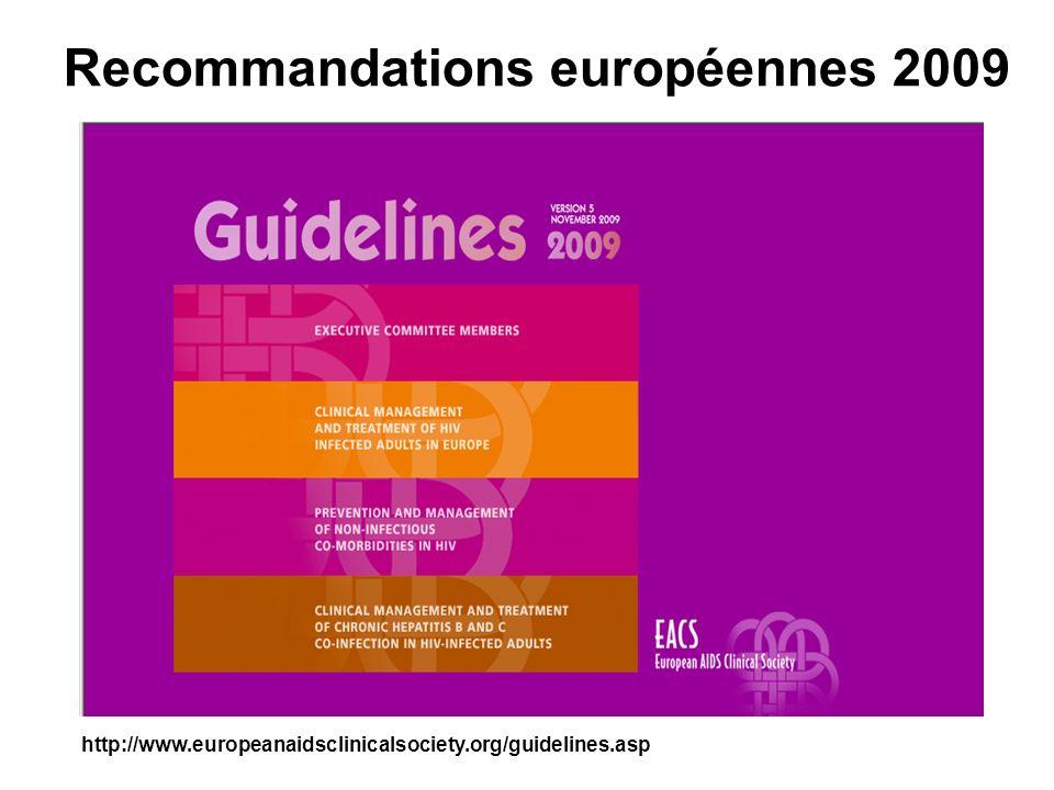 Recommandations européennes 2009