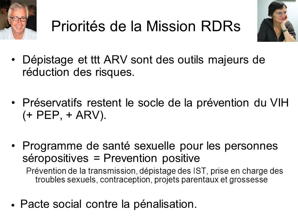 Priorités de la Mission RDRs