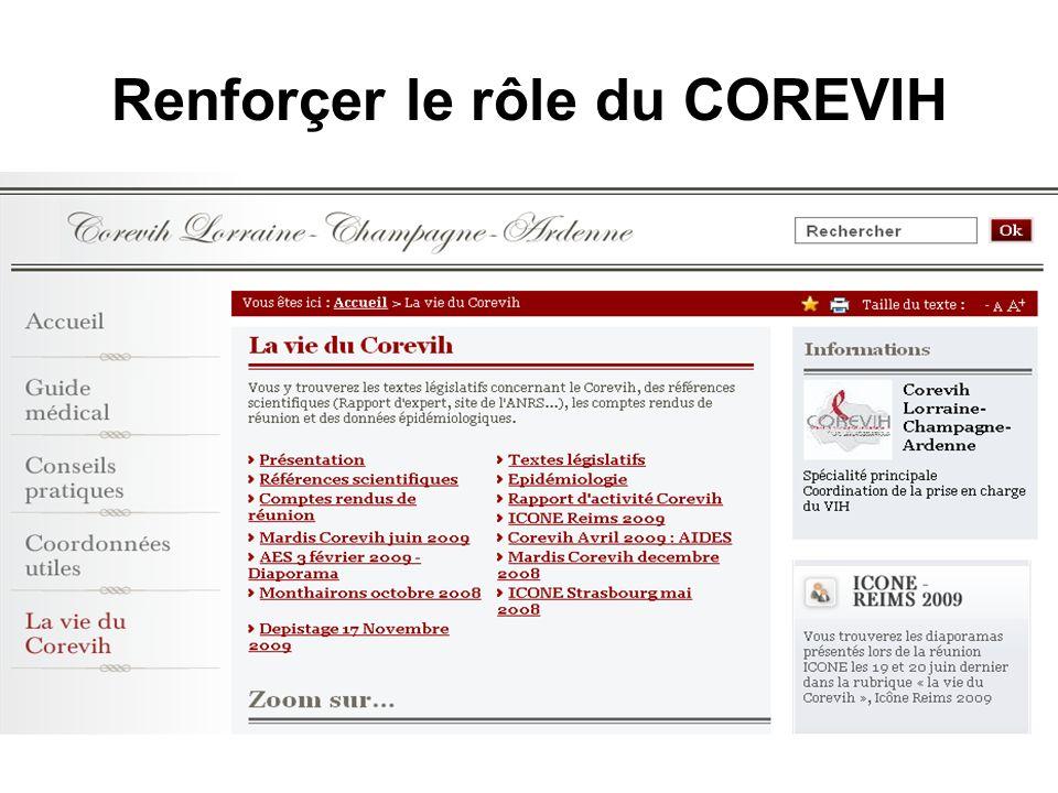 Renforçer le rôle du COREVIH