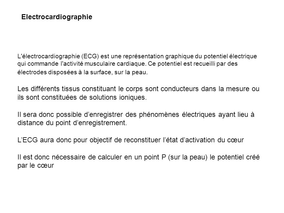 Electrocardiographie