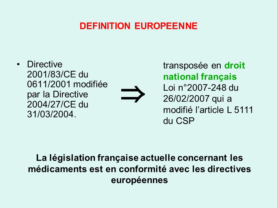 DEFINITION EUROPEENNE