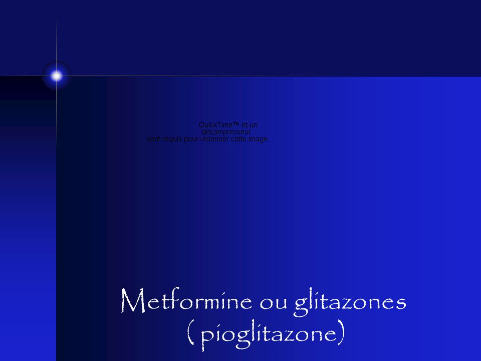 Metformine ou glitazones