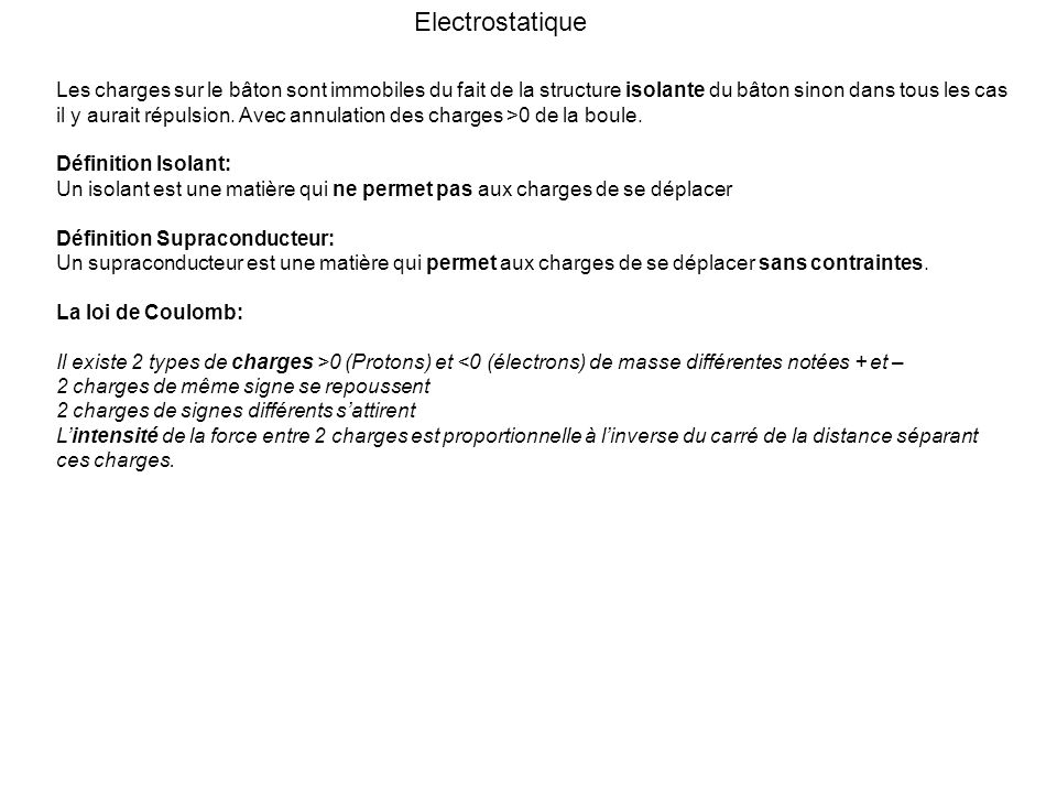 Electrostatique