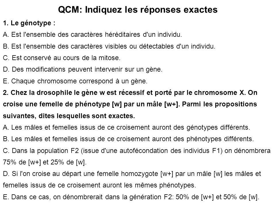 QCM: Indiquez les réponses exactes