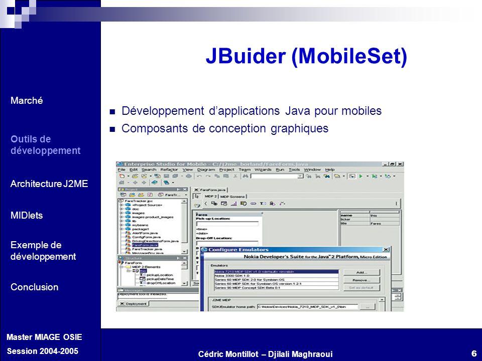 JBuider (MobileSet) Développement d'applications Java pour mobiles